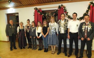 Weihnachtsfeier mit Königsproklamation 2019